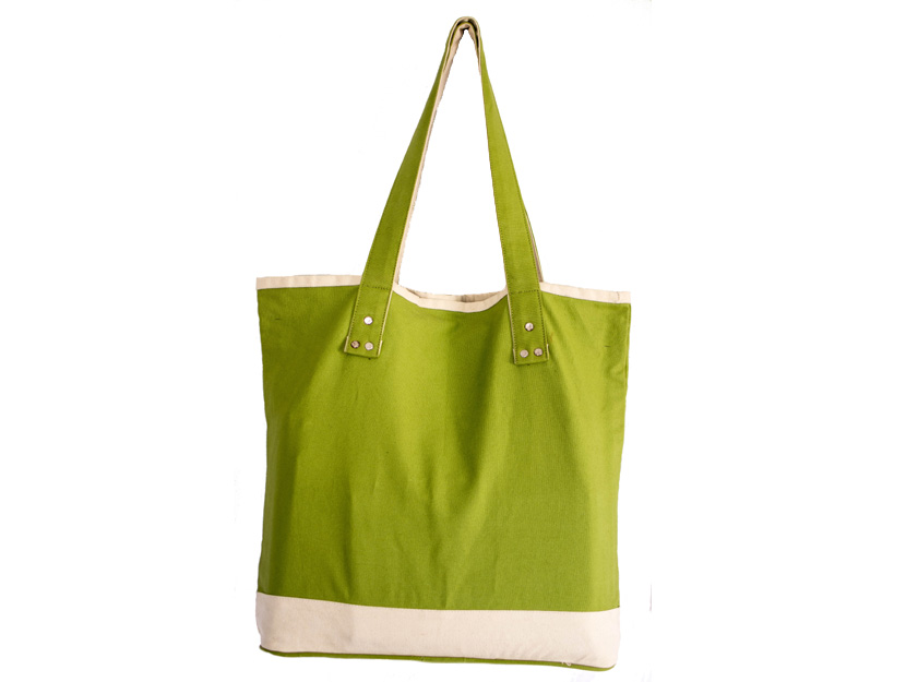 Cotton Green Beach Bag